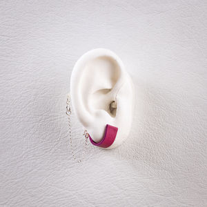 Safety Penny Fuchsia - Hearing Aid Jewelry