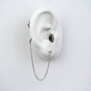 Silver Safety Chain Short - Hearing Aid Jewelry